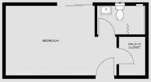 floorpan for bedroom 1