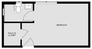Bedroom floorpan 5