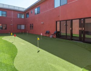 Senior Living Miniture Golf Course Amenities